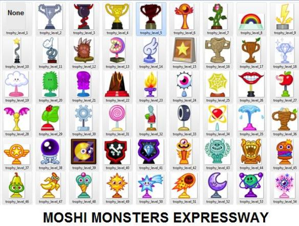 All Moshi Trophies