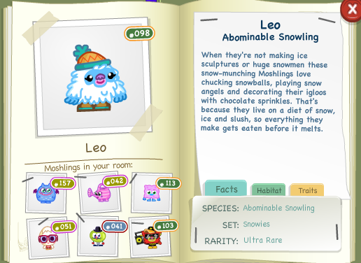 Leo Bio Moshi Monsters