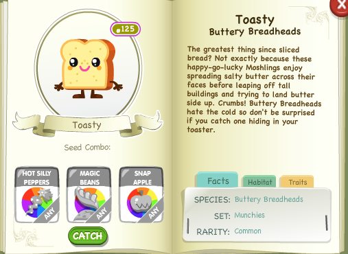 Toasty Bio Moshi Monsters