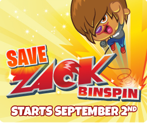 Zack Binspin Starts September 2