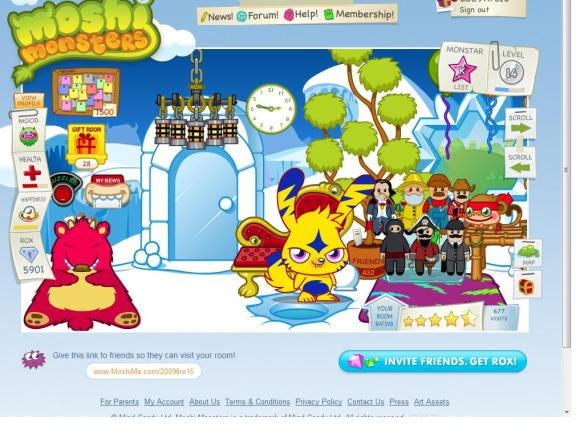 Moshi Monsters 1500 Notes Pic!